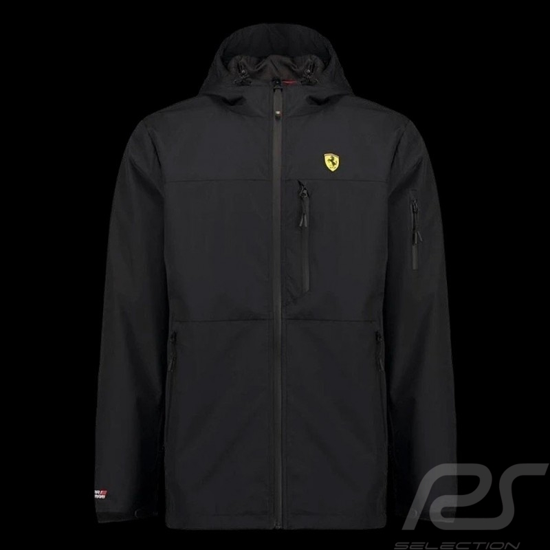 Ferrari Rain Jacket Black Scuderia Ferrari Official Collection - men