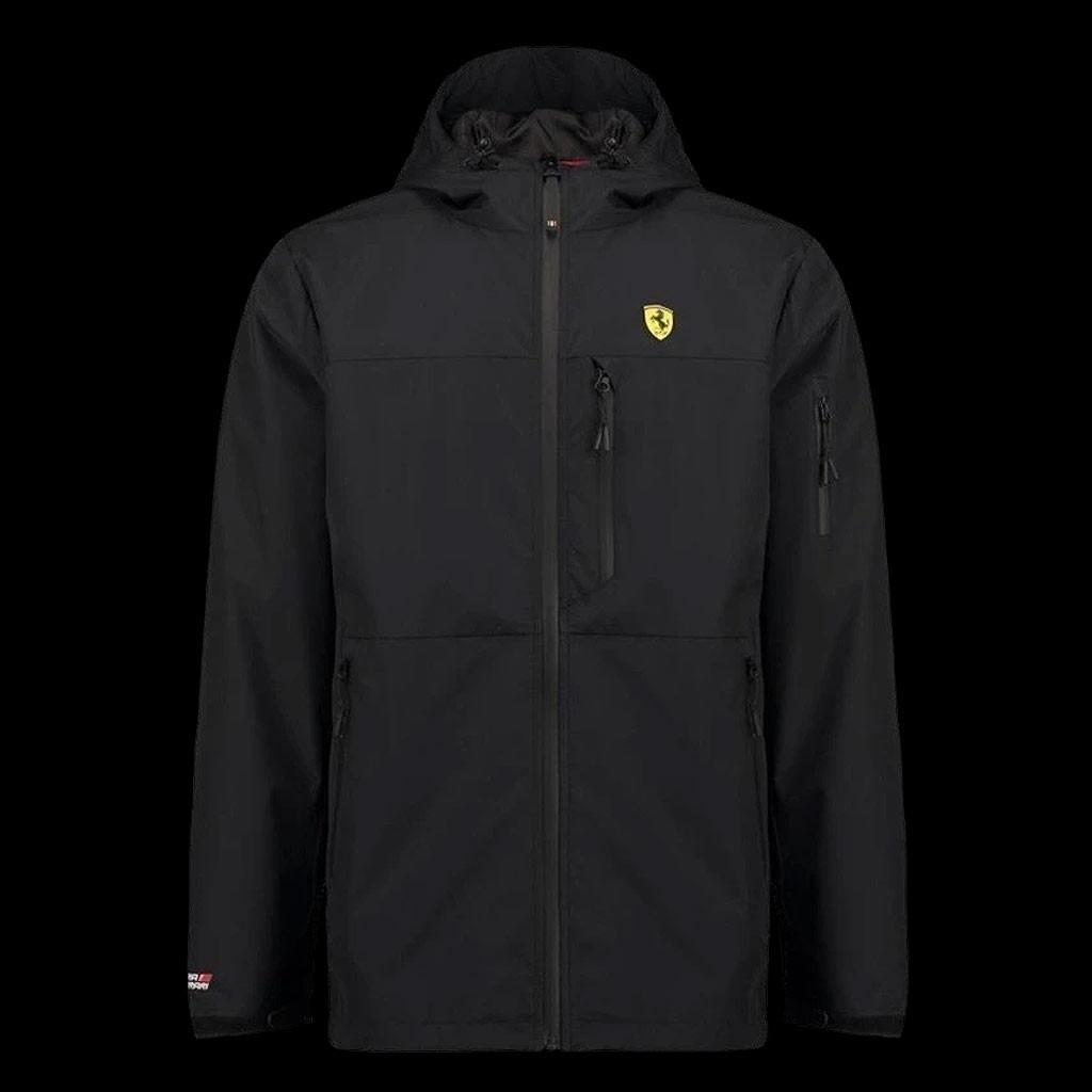 Ferrari Rain Jacket Black Scuderia Ferrari Official Collection Men Selection Rs