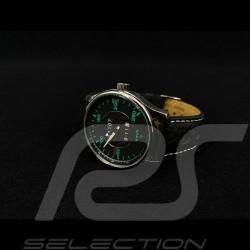 Porsche 911 250 km/h speedometer Watch chrome case / black dial / green numbers