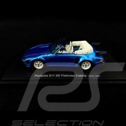 Porsche 911 Turbo SE 1988 Cabriolet Flatnose Blue 1/43 Autocult ATC60045