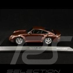 Porsche 959 1987 rouge red rot sombre métallisé 1/18 Minichamps 155066204