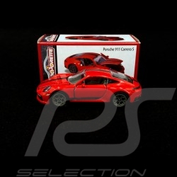 Porsche 911 Carrera S type 992 Rouge Indien Guards red Indischrot 1/59 Majorette 212052016T20