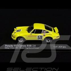 Porsche 911 Carrera RSR 2.8 Vainqueur Sebring 1973 n° 59 1/43 Minichamps 430736999