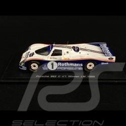 Porsche 962 C Rothmans Sieger Le Mans 1986 N° 1 1/43 Spark S0923