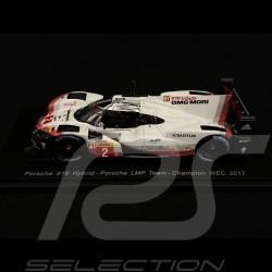 Porsche 919 Hybrid LMP Team Champion WEC 2017 N° 2 1/43 Spark S5845