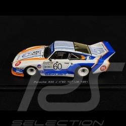 Porsche 935 J n° 60 10th Le Mans 1981 1/43 Spark S2024