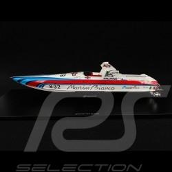 Bateau Martini Off Shore Boat Boot Lancia 8.32 1987 Rouge / blanc / bleu 1/43 Spark S2301