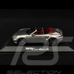 Porsche 911 type 992 Turbo S Cabriolet 2020 GT Silver grey 1/43 Minichamps WAP0201790K