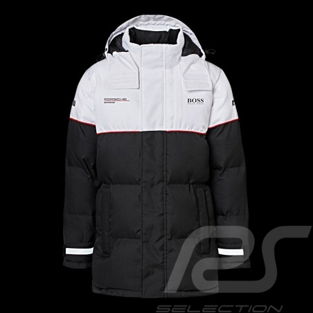 Veste Jacket Jacke Hugo Boss Porsche Motorsport matelassée Hiver Noir / blanc WAP120L0MMSR - mixte