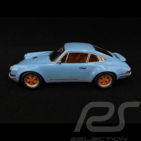 Singer Porsche 911 Coupé light blue/orange 1/18 KK Scale KKDC180441