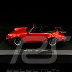 Porsche 911 Turbo Cabriolet type 930 1987 rouge Indien guards red Indishcrot 1/18 Norev 187664