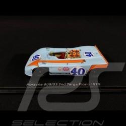 Porsche 908 03 Targa Florio 1970 n° 40 Gulf 1/43 Spark S4626