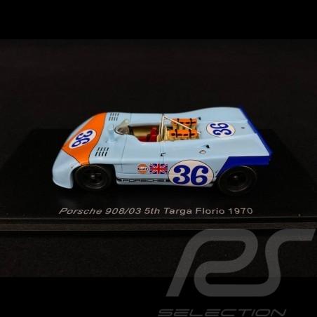 Porsche 908 03 Targa Florio 1970 n° 36 Gulf 1/43 Spark S4625