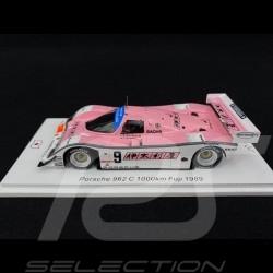 Porsche 962 C 1000km Fuji 1989 n° 9 Wollek 1/43 Spark SJ082