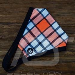 Gulf mask Tartan pattern Protective and washable Blue / orange Size L