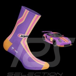 Chaussettes Wynn's 911 RSR Rose / violet / orange Socks Socken mixte