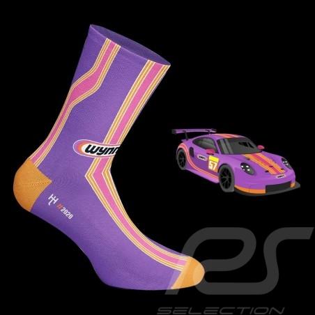 Chaussettes Wynn's 911 RSR Rose / violet / orange Socks Socken mixte