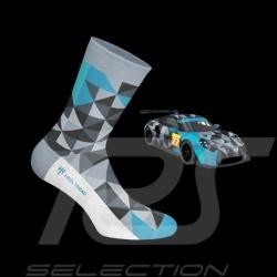 Proton 911 RSR Socken grau / schwarz / blau - Unisex