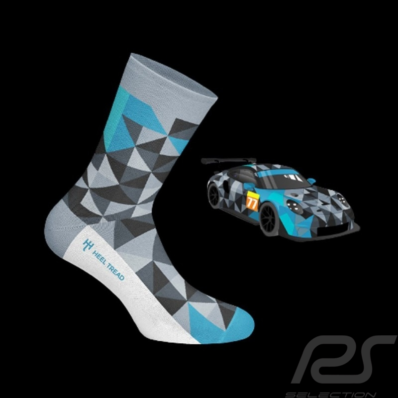 Proton 911 RSR socks grey / black / blue - unisex
