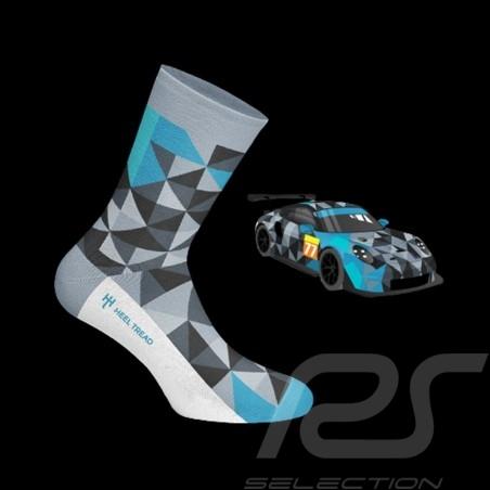 Proton 911 RSR socks grey / black / blue - unisex