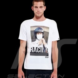 Steve McQueen T-shirt Racing Le Mans White - Men