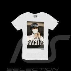 T-shirt Steve McQueen Racing Le Mans Blanc - homme