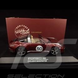 Porsche 911 Targa 4S type 992 Heritage Design Edition rouge cerise 1/43 Minichamps WAP0209110L