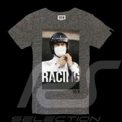 Steve McQueen T-Shirt Racing Le Mans Dunkelgrau - Herren