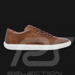 Chaussure de conduite Sneaker sport Cuir Marron Driving shoes Fahrschuh homme men herren