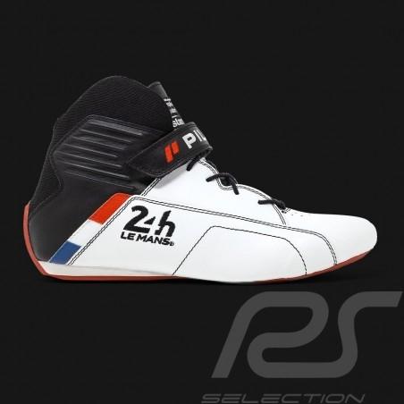 Pilot shoes 24h Le Mans FIA White Leather boot - men