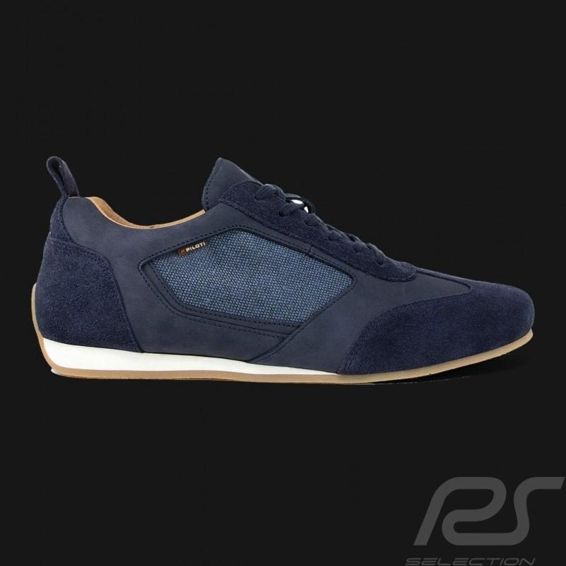 Driving shoes Sport sneaker 24h Le Mans Navy blue Leather / Cotton - men