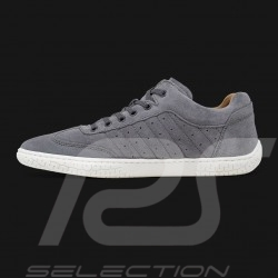 Driving shoes Sport sneaker Grey Suede Leather - men