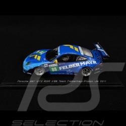 Porsche 911 GT3 RSR type 997 Felbermayr Proton n° 88 Le Mans 2011 1/43 Spark S3420