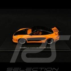 Porsche Gemballa Avalanche GT2 600 EVO 2008 orange et noir black schwarz 1/43 Spark S0718