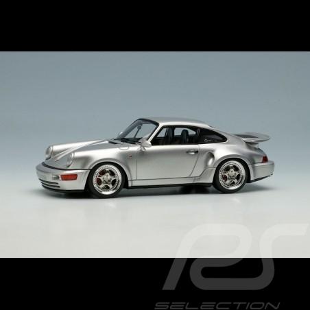 Porsche 911 Turbo S Light Weight Type 964 1992 Silver grey 1/43 Make Up Vision VM159B