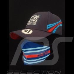 Martini Maske Waschbare Schutzmaske Blau / rot Größe L