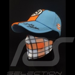 Gulf mask Tartan pattern Protective and washable Blue / orange Size L