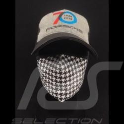 Pepita Maske Hahnentritt Muster Waschbare Schutzmaske SChwarz / Weiß Größe L