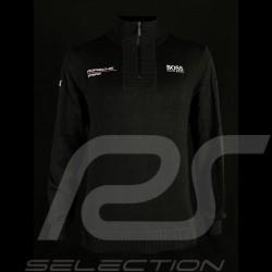Pull Hugo Boss Porsche Motorsport en maille Coton Noir WA201MMSR - homme