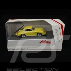 "Porsche 356 Carrera 2 ""Ski vacation"" yellow 1/64 Schuco 452022900"