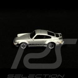 Porsche 911 Turbo type 930 gris métallisé silver silber metallic 1/64 Schuco 452022400