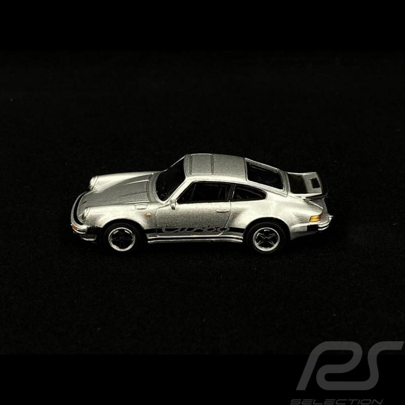Porsche 911 Turbo type 930 silver metallic 1/64 Schuco 452022400