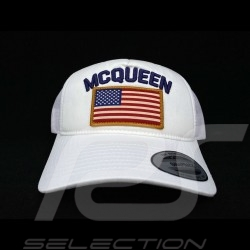 Steve McQueen Kappe Snapback Weiß USA Flagge