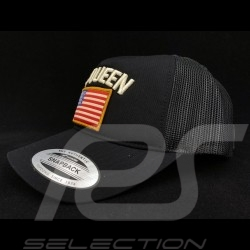 Steve McQueen Hat Snapback Black USA flag - Men