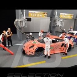 Diorama figurines set Le Mans 2018 Porsche Pink pig 1/43 Spark 43AC013