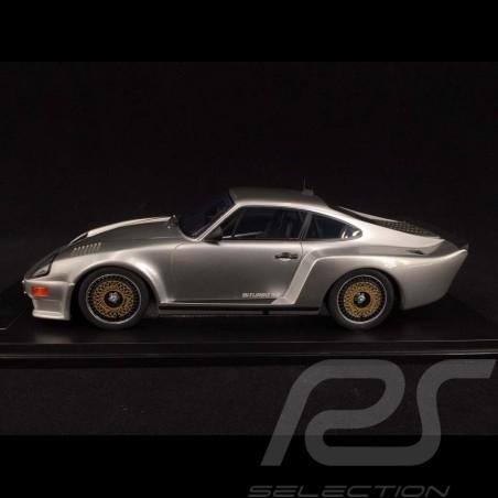 Porsche 911 Biturbo type 930 3.3 Almeras 1993 gris métallisé silver silber metallic 1/18 KESS KE18005B