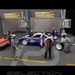 Diorama figurines set Le Mans 2018 Porsche Rothmans design 1/43 Spark 43AC012