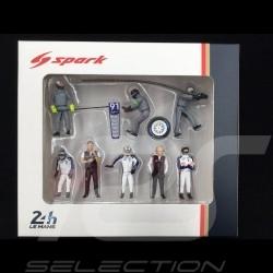 Set figurines diorama Le Mans 2018 Porsche Rothmans design 1/43 Spark 43AC012