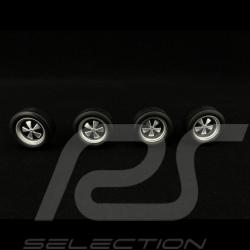 Set of 4 wheels  with Fuchs rims Silver 1/18 KK Scale KKDCACC002