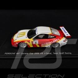 Porsche 911 type 997 Carrera Cup 2009 n° 6 Graff Racing 1/43 Spark MX018